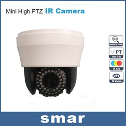 Wholesale Ccd Zoom Wireless - CCTV Security Sony CCD 480TVL 700TVL Mini High Speed Dome 10X Optical Zoom 42 IR lED Indoor PTZ Camera Free Shipping