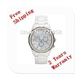 Cerámica blanca reloj de pulsera en venta-Envío libre del hk _Absolute reloj de pulsera de cerámica blanco AR1456 del nuevo Gent del reloj del cronógrafo del mens de lujo nuevo 1456 + caja original
