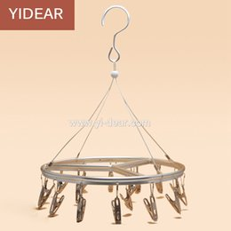 Wholesale Yidear cm Wall Shelf Rack Multifunctional Windproof Clips Solid Frame Hanger Aluminium alloy Dry Socks Hanger