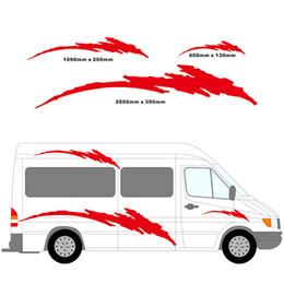 Wholesale 2m Motorhome Vinyl Stripes Graphics Kit Stickers Decals Set Camper Van RV Caravan Travel Trailer Horsebox