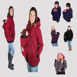 Wholesale Baby Carrier Jacket Kangaroo Winter Maternity Outerwear Coat for Pregnant Women Thickened Pregnancy Wool Baby Wearing Coat Women K477