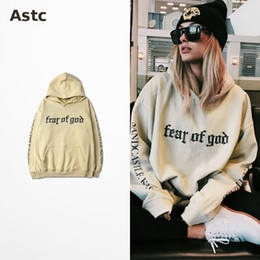 Wholesale Fear Of God Hoodie Beige Purpose Tour Sweatshirt Gorilla Wear Hiphop Sweatshirt Skateboard Wes High Quality Tracksuit Men Brand