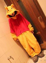 Wholesale Halloween Costume Winter Autumn the Pooh Kigurumi Pajamas Animal Suits Cosplay Outfit Adult Garment Cartoon Jumpsuits Unisex Animal
