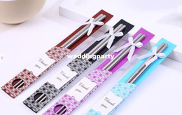 Stainless Steel Chopsticks Tableware Wedding Favors Gift With Retail package