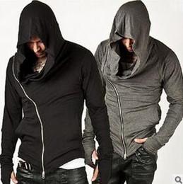 Wholesale New Stylish Unbeatable Arm Warmer Diagonal ZIP UP Mens Assassin Creed Hoodie Fashion Design For Men Sportswear Sweatshirt hight quality fre