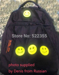 Wholesale 13 model sheet CM Reflective safety sticker smile face for motorcycle bicycle kids toy any where for visible safety