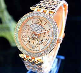 Wholesale Women s Luxury Diamond Watch Fashion Women Rhinestone Ladies Dress michael Quartz Watches Roman Sliver Rose Gold Wristwatches