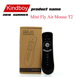 Mini Fly Air Mouse T2 Keyboard Mouse Android Wireless Remote Control 3D Sense Motion Stick For TV Box