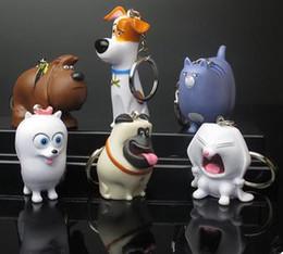 Wholesale The Secret Life of Pets Six key figures ornaments Mike Rabbit Pendant Jewelry Bag car key chain