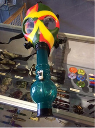 Wholesale new designer Gas mask pipe new smoking pipes Gas Mask Water Pipes Sealed Acrylic Hookah Pipe Bong Filter Smoking Pipe