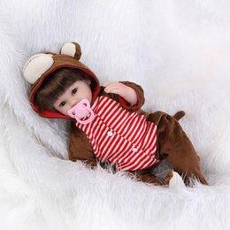 Muñecas bjd en Línea-43cm SD / BJD muñeca de silicona bebé reborn renacer realista regalo de cumpleaños de los juguetes del niño de la muñeca de la muchacha del cabrito del muchacho del mono de la muñeca