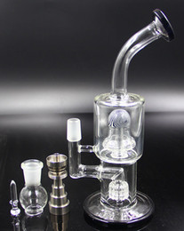 New Glass Water Bong Smoking Pipe With Honeycomb Percolator And Titanium Nails Glass Water Pipes For Smoking for Tobacco And Oil Rig