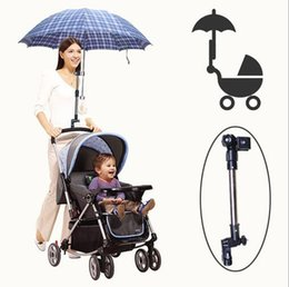 Wholesale Adjustable Baby Stroller Pram Umbrella Stand Holder Bracket Stainless steel umbrella holder Wheelchair Bicycle Umbrella Connector