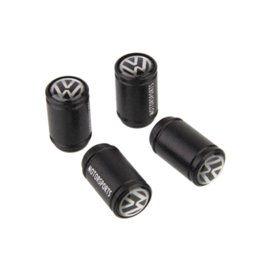 Wholesale Car Wheel Tire Valve Stem Caps Fit jetta passat Golf GTI 4pcs Black tire valve stem