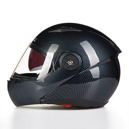 Wholesale 2016 New JIEKAI JK115 undrape face Motorcycle helmet open face motorbike helmets imitation carbon fiber size M L XL
