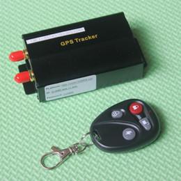 Dispositivos anti-robo de coches en venta-DHL rápida TK103B GPS del coche GPS GSM GPRS del coche del vehículo en tiempo real antirrobo dispositivo de alarma de seguimiento de localización con la antena de control remoto