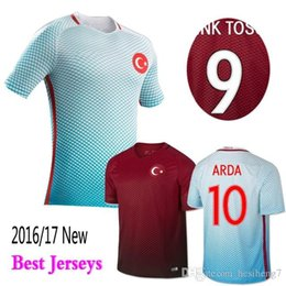 Wholesale 16 Turkey home red football jersey men s thailand quality designer football sets short sleeve soccer uniform adult s brand new