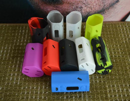 Wholesale Sleeve Boxes - RX200W Silicone Case Colorful Rubber Sleeve Protective Cover Skin For Wismec RX200 cover TC RX 200 Box Mod