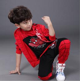Spiderman Children Boys Clothing set Baby Boy Spider man Sports Suits Kids 3pcs Sets(Vest+T shirt+pants)Autumn Sportswear Clothes Tracksuits