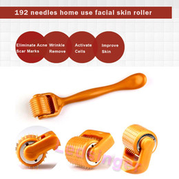 hot!!! 192 needles derma roller skin care wrinkle scare acne treatment stainless steel micro needle skin roller massage