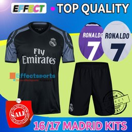 Wholesale Real Madrid kits soccer jersey uniform home away men sets Maillot de foot Ronaldo james bale benzema kroos modric football shirts