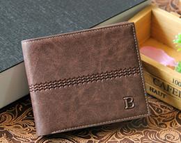 Wholesale New Men s Leather Wallet Short Brand Design Male Clutch Bifold Man s Purse Solid Black Brown Business Fashion Pocket Card Holder