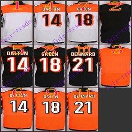 Wholesale NIK Elite Football Stitched Bengals Blank Andy Dalton AJ Green Dennard Black Orange White Jerseys Mix Order