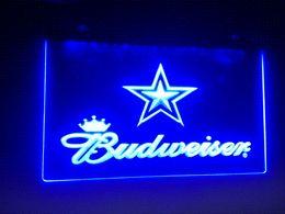 2017 signes de cow-boy b-79 Dallas Cowboys Budweiser Beer Bar Pub Club de NEW LED Neon Light Inscrivez-vous dédicaces à bas prix hotline bon marché signes de cow-boy