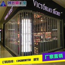 Wholesale Guangzhou factory direct electric roller shutter door aluminum alloy crystal folding door shopping mall store anti theft door door