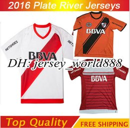 Wholesale Top Thai quality RIVER PLATE Home jersey soccer TEO D ALESSANDRO BALANTA CAVENAGHI VANGIONI River Plate AWAY red Football shirt