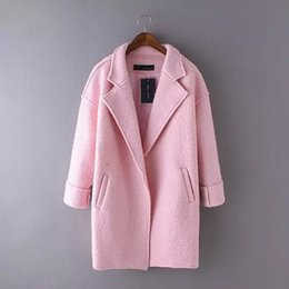 Winter Coat Women 366-95 Korean Winter Dress Lapel Paragraph Color Bat Sleeve Loose Coat All-matc