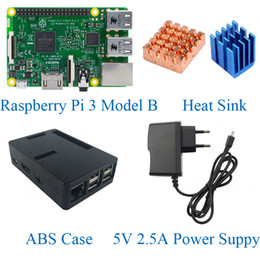 Wholesale Raspberry Pi Model B Kits included Raspberry pi Board ABS Case V A Power Supply Heat Sink