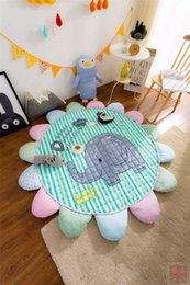 Wholesale Special for child puzzle mat quilted cotton environmental rug round ground mat for children game cartoon crawling mat