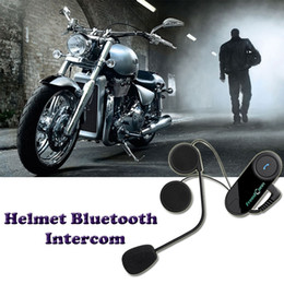 Wholesale BT M Motorcycle Wireless Bluetooth Receiver Interphone Headsets Helmet Intercom Interphone Handsfree Headphone Earphone