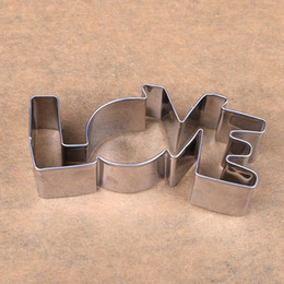 Wholesale Lover Series Design Stainless Steel Cookie Cutter LOVE Letter Shape Forms For Biscuit Mold Bakeware Pastry Confectionery Tools