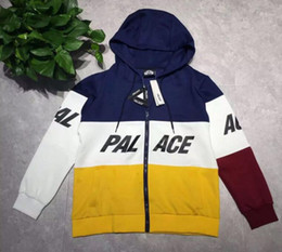 Wholesale Europe Street tide brand PALACE skateboard color space cotton sweater cardigan Hooded Coat Color of men and women