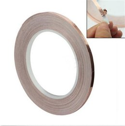 Wholesale 1 Roll Single Conductive COPPER FOIL Tape Strip Adhesive MM X M