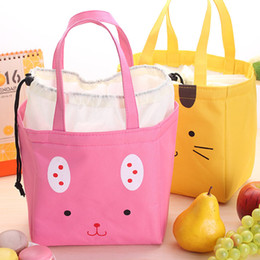 Thickening Insulation Waterproof Portable South Korea Brown Handbag Lunch Meal Lunch Box Cut Cartoon Small Bag Free Shipping