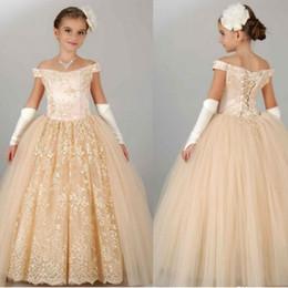 Wholesale Elegant bridesmaid dresses for children bud silk gauze dress strapless PROM dress girl beauty antique flower girl dress