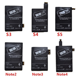 Wholesale Qi Charger Receiver Wireless Charging Adapter Receptor Receivers Pad Coil For Samsung Galaxy S3 S4 S5 Note Micro USB mobile