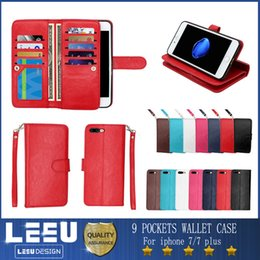 Wholesale For iphone Wallet Case iphone plus PU leather cases with photo frame cash slot credit card pocket with stand iphone s plus s7 edge