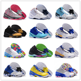 Wholesale 2015 All Colors Stephen Curry Men s Basketball Shoes for Top quality One Two Birthday Signature Sports Training Sneakers Size