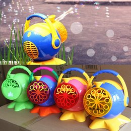 Wholesale Zorn toys Bubble Maker Bubble gun Children s toys portable automatic bubble machine octopus blowing bubbles