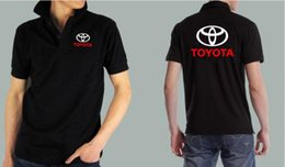 Wholesale New Summer fashion toyota car S shop shirt customer Aftermarket service standard toyota short sleeved men and women shirts