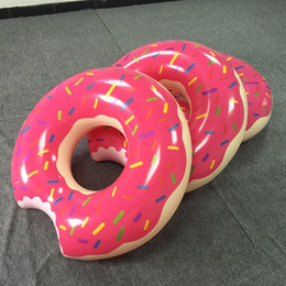 1 Piece Hot Summer Water Toys 36 Inch Gigantic Donut Swimming Float Inflatable Swimming Ring 2 Colors Best Gifts For Children