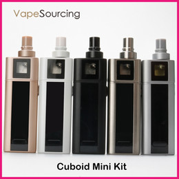 Wholesale Original ecig Joyetech Cuboid Mini Kit With W Cuboid Mini Battery mah New ohm Atomizer NotchCoil DL Head Dual Circuit Protection