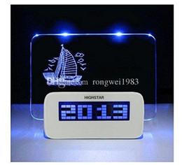 1pcs LED Lumière Digital Alarm Clock Fluorescent message Tableau d'affichage Snooze calendrier minuteur température + Highlighter YX-LYD-01 à partir de avis dirigés fabricateur