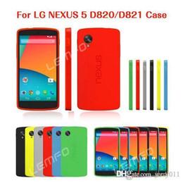 Carcasas para LG Google Nexus 5 D820 D821 E980 TPU superiores Oficial de plástico híbrido neo de la piel de con Package Nueva desde plástico nexo proveedores