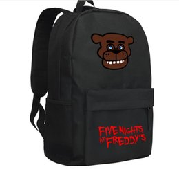 Wholesale 20pcs FNAF Five Nights at Freddy s backpack chica schoolbag baer bag figure toy for children gift