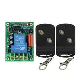 Wholesale AC V A Relay Receiver Remote Control Switch Wireless High Load LED Waterpump Motor Power Remote ON OFF Controller Learning
